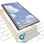 curb-mount-skylight-drawing